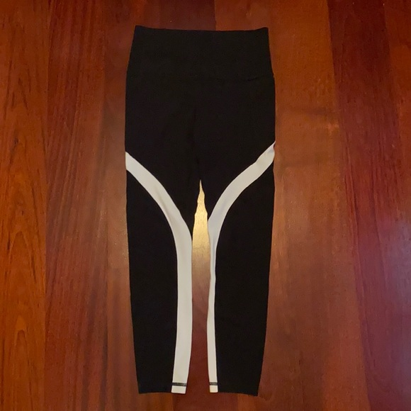 Ladies black and white tights
